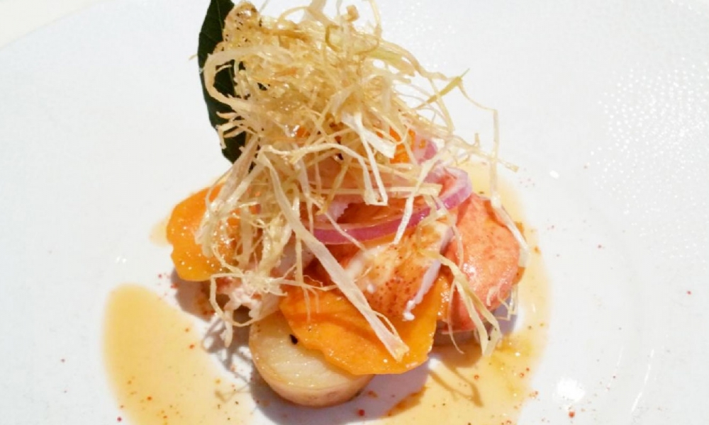 Salade de homard a l'huile du crustacé