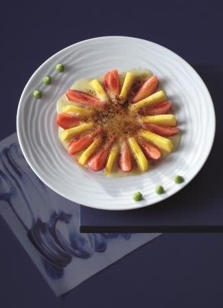 recette_guy_martin_Gratin_de_mangues_et_fraises_au_wasabi