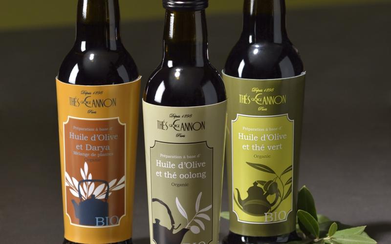 L 39 huile d 39 olive parfum e au th - Huile de carthame cuisine ...