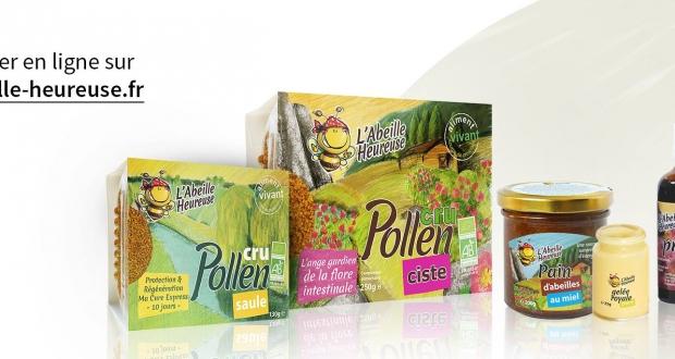 abeille heureuse pollen