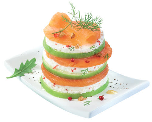 Millefeuille truite Ovive